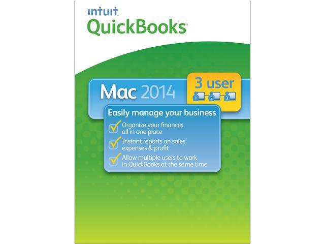 Intuit Quickbooks 2014 for Mac - 3 Users