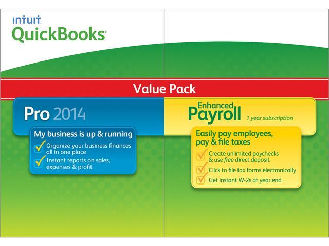 Intuit QuickBooks Pro w/ Enhanced Payroll 2014 - Download