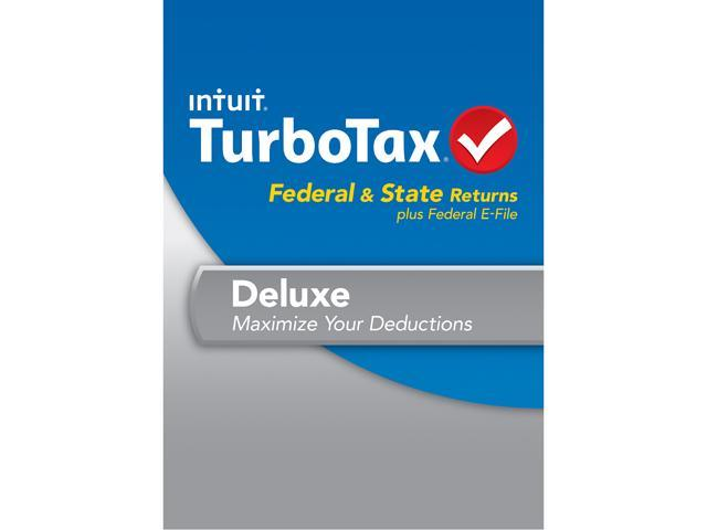 Intuit TurboTax Deluxe Federal & State 2013 For Windows - Download