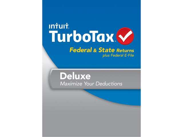 Intuit TurboTax Deluxe Federal & State 2013