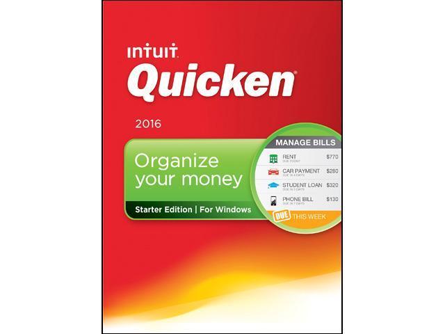 Intuit Quicken Starter Edition 2016 - Download