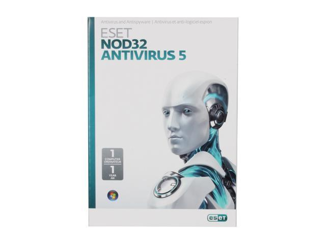 ESET NOD32 Antivirus 5 - 1 PC (French/English)