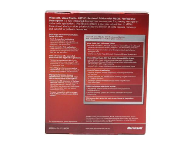 Microsoft Visual Studio 2005 Professional + MSDN Professional