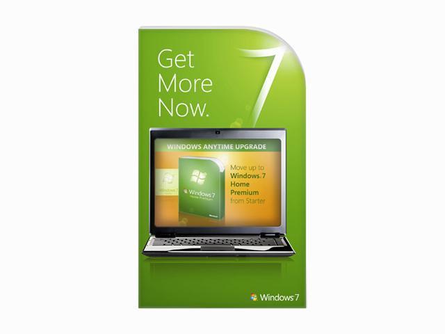 Microsoft Windows Anytime Upgrade: Windows 7 Starter to Home Premium