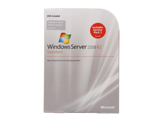 Windows Server 2008 R2 Standard 64-bit w/ 5 CAL