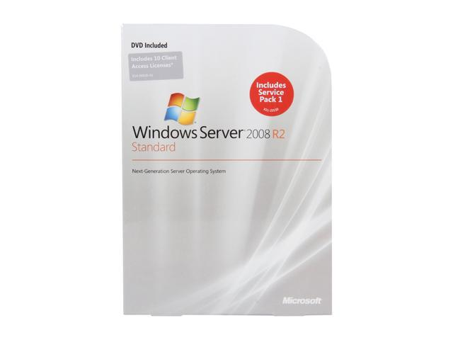 Microsoft Windows Server 2008 R2 Standard 64-bit 1 Server 10 CAL