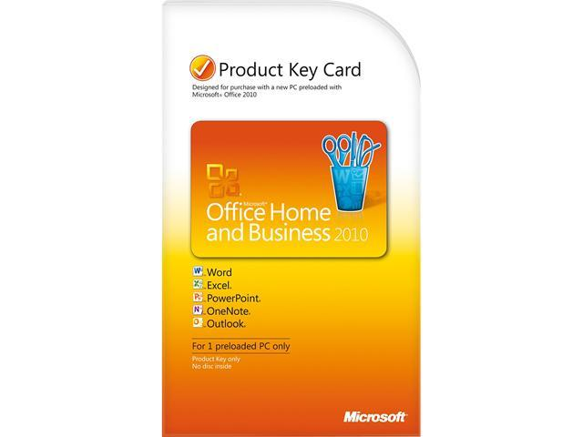 Microsoft Office 2010 Home and Business Product Key Card (no media)