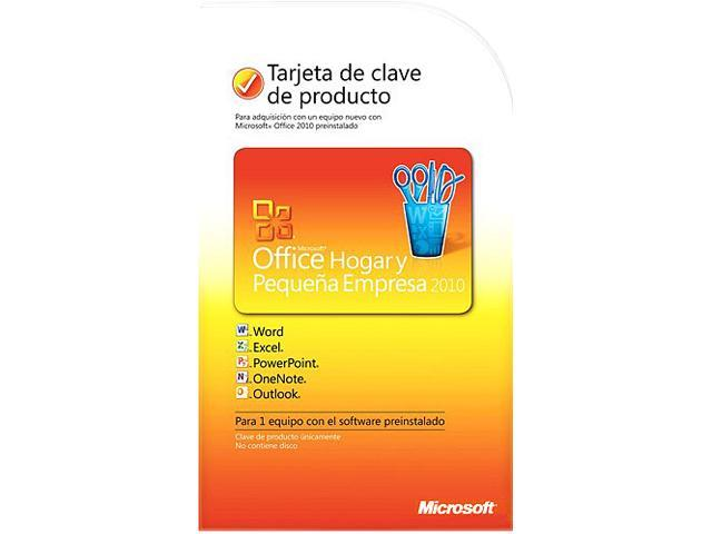 Microsoft Office Home and Business 2010 Spanish PC Attach Key Not to Latam PKC Microcas