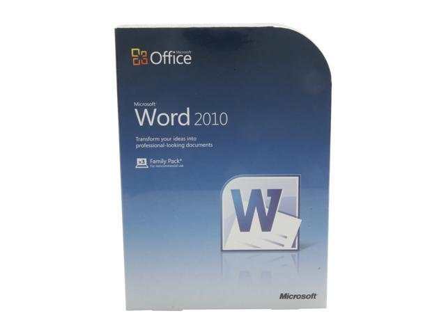 Microsoft Word 2010 Home and Student - 3 PC in One Household