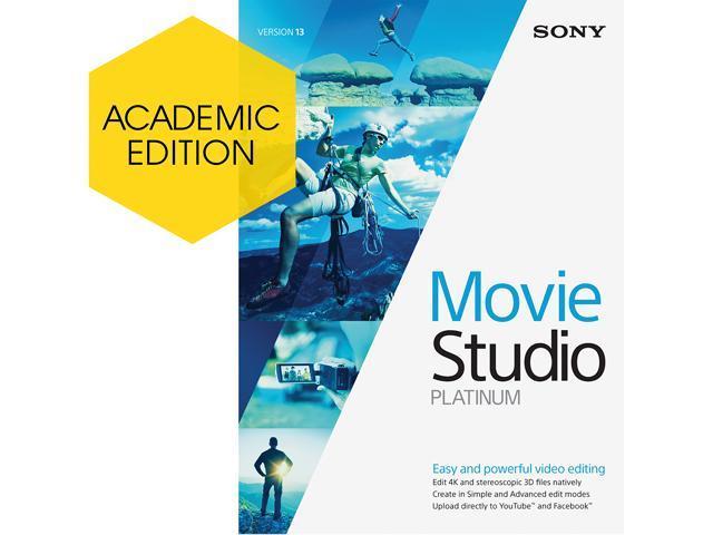 SONY Academic Movie Studio 13 Platinum - Download