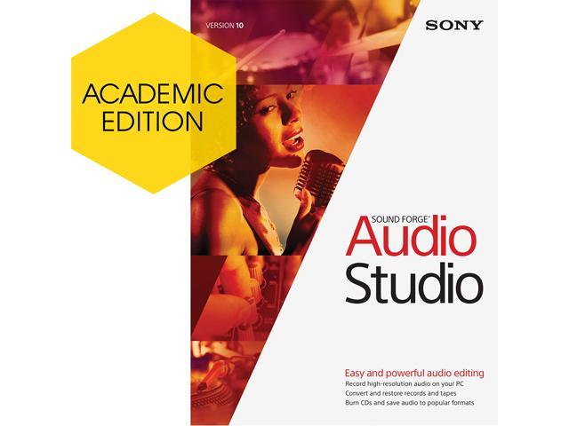 SONY Academic Sound Forge Audio Studio 10 - Download