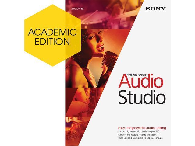 SONY Academic Sound Forge Audio Studio 10 - Download