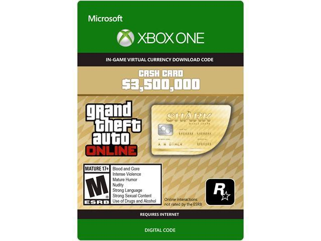 Grand Theft Auto Online: Whale Shark Cash Card Xbox One [Digital Code]
