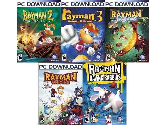 Rayman Power Pack (2, 3, Legends, Origins, Raving Rabbids) [Online Game Codes]