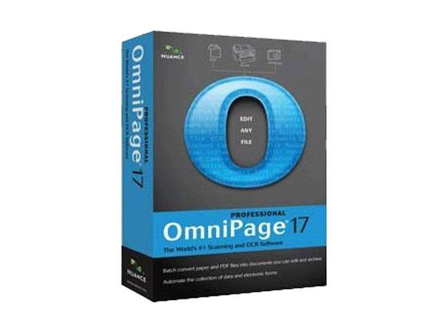NUANCE OmniPage Professional 17.0- English ED/State & Local
