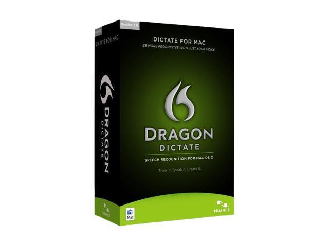 NUANCE Dragon Dictate 2.0 for Mac Academic