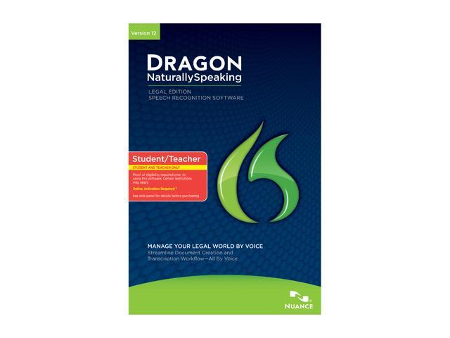 NUANCE Dragon NaturallySpeaking 12 Legal Student/Teacher Edition