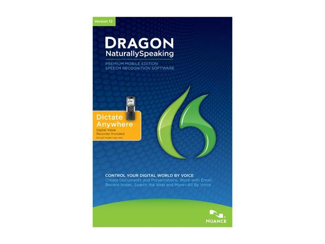 NUANCE Dragon NaturallySpeaking 12 Premium Mobile (Digital Recorder Included)
