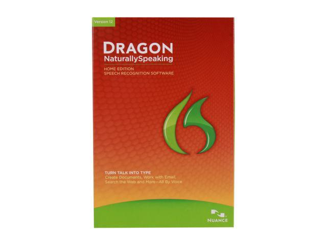 NUANCE Dragon NaturallySpeaking 12 Home Voice Recognition Software