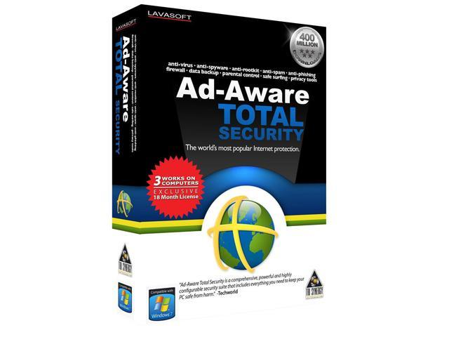 TRI SYNERGY Ad-Aware Total Security 3PC 18 Month