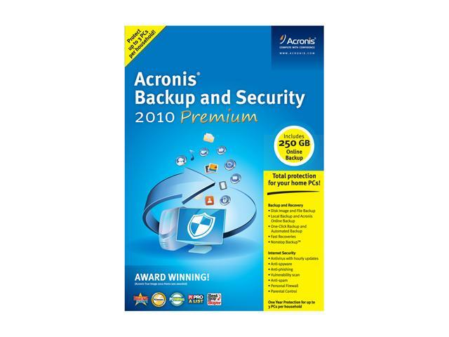 Acronis Backup and Security 2010 Premium