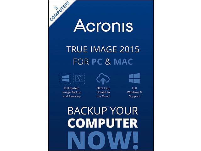 Acronis True Image 2015 3 Devices For PC & Mac