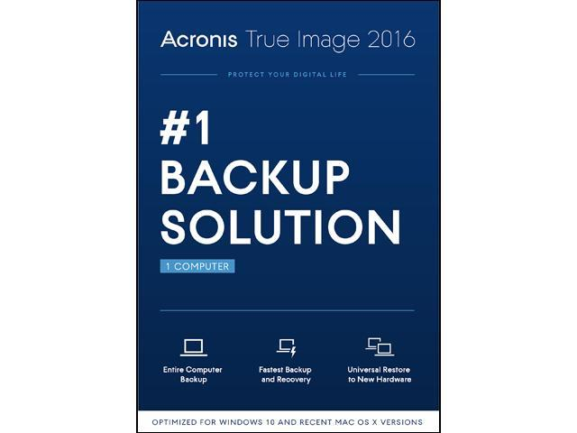 Acronis True Image 2016 - 1 PC
