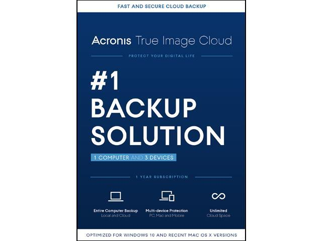 Acronis True Image Cloud 2016 - 1 PC & 3 Devices