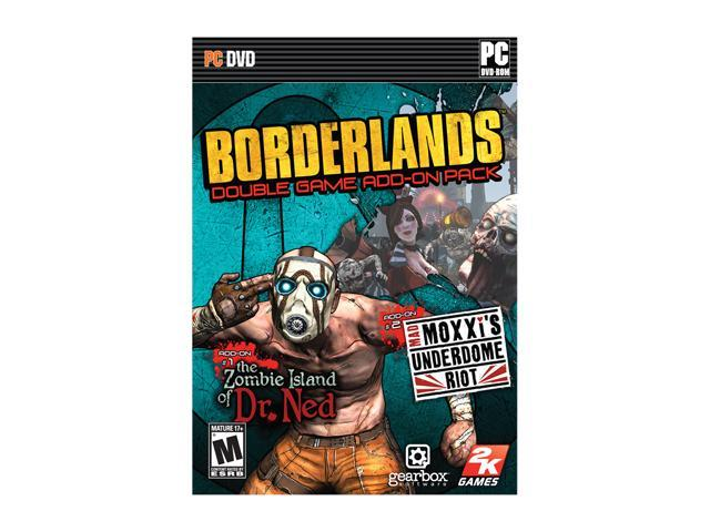 Borderlands Game Add-On Pack The Zombie Island of Dr. Nex and mad Moxxi's Underdome Riot PC Game