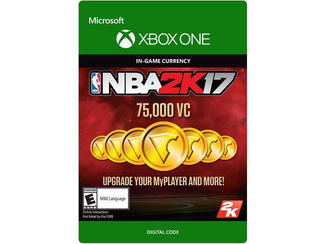 NBA 2K17: 75,000 VC Xbox One [Digital Code]
