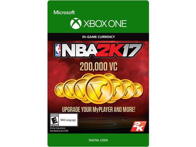 NBA 2K17: 200,000 VC Xbox One [Digital Code]