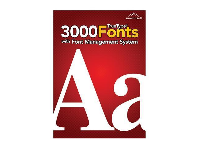 SummitSoft 3000 Fonts