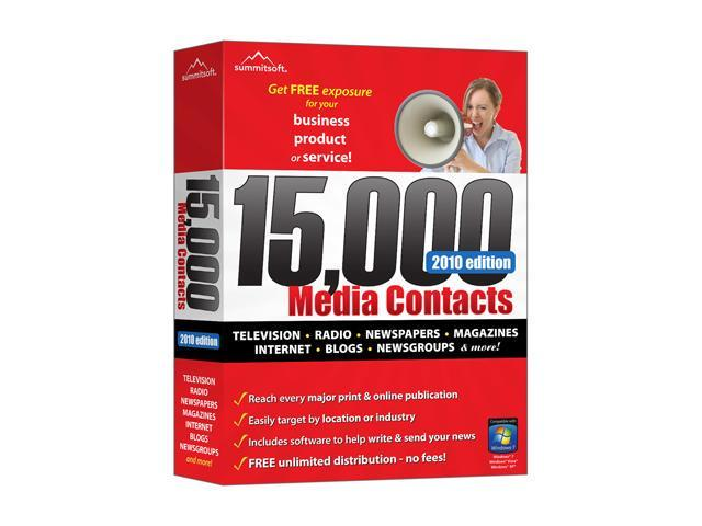 SummitSoft 15,000 Media Contacts