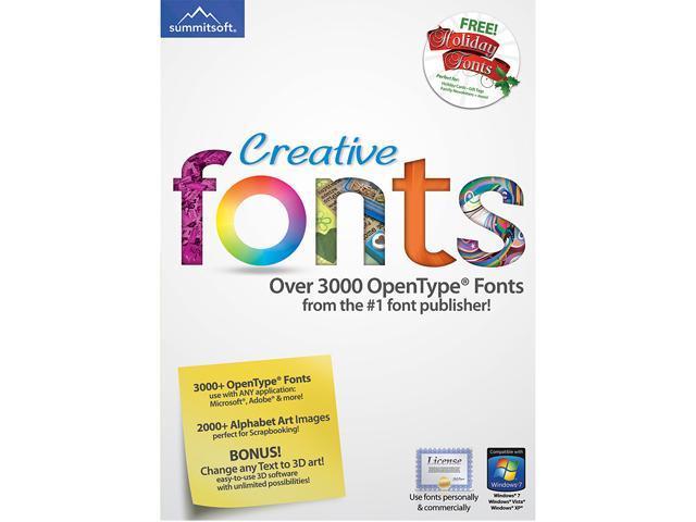 SummitSoft Creative Fonts (Windows) - Download