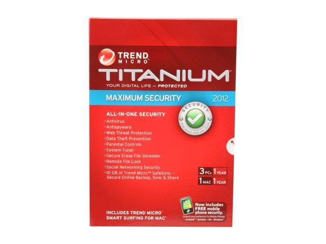 TREND MICRO Titanium Maximum Security - 3 PCs