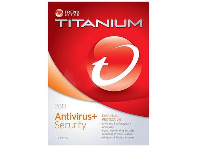 TREND MICRO Titanium AntiVirus 2013 - 3 PCs - Download