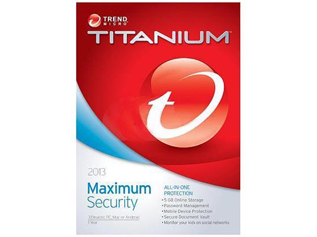 TREND MICRO Titanium Maximum Security 2013 - 3 PCs - Download