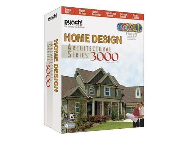 Punch Software Home Design Architectural Series 3000 Version 12 Software