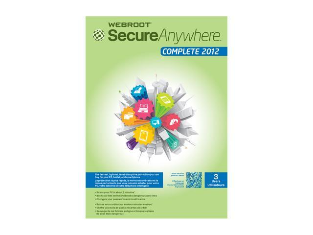 Webroot SecureAnywhere Complete 2012 – 3 Users