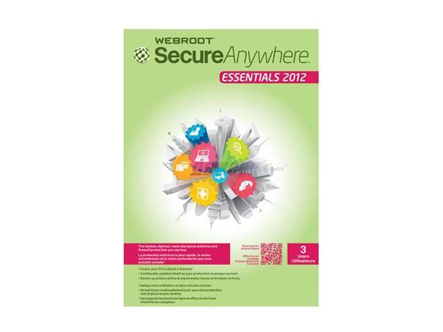Webroot Secureanywhere Essentials 2012 - 3 Users