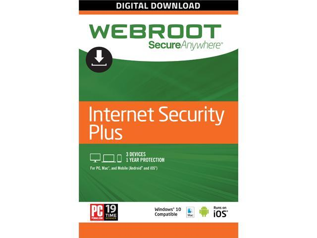 Webroot SecureAnywhere Internet Security 1 Year