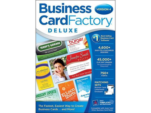 Nova Development Business Card Factory Deluxe 4