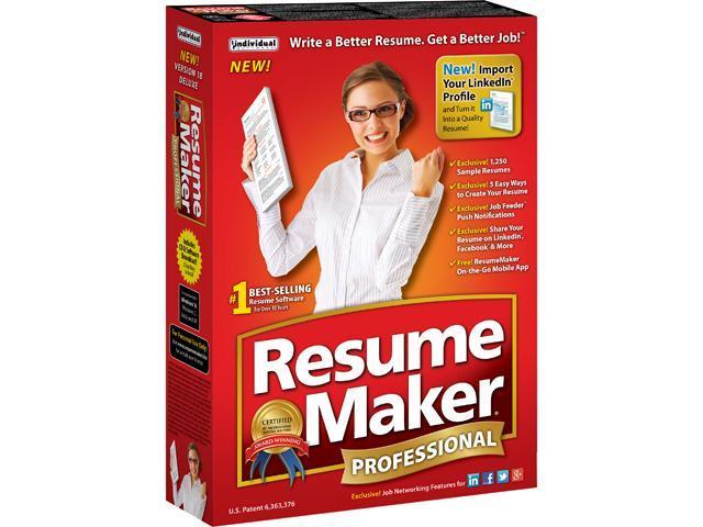 individual software resumemaker professional deluxe 18