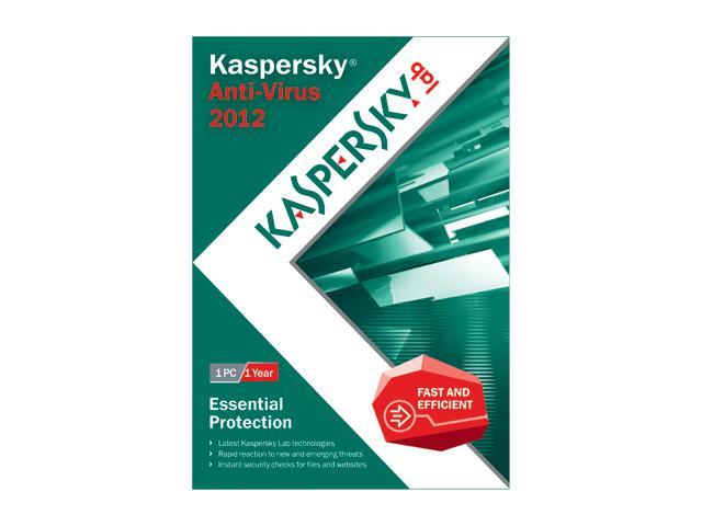 Kaspersky Anti-virus 2012 - 1 User For System Builders
