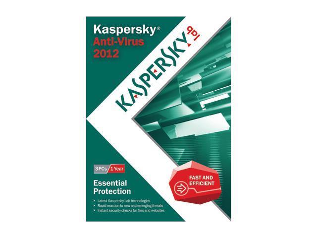 Kaspersky Anti-virus 2012 - 3 PCs