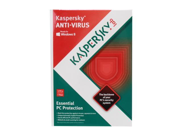 Kaspersky Anti-Virus 2013 - 3 PCs