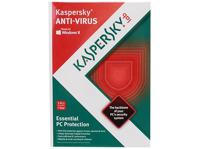 Kaspersky Anti-Virus 2013 3 PCs - Download