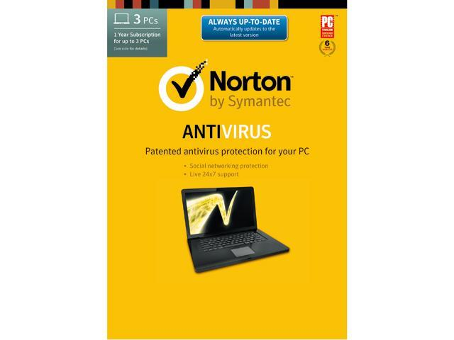 Symantec Norton Antivirus 2014 - 3 PCs Download