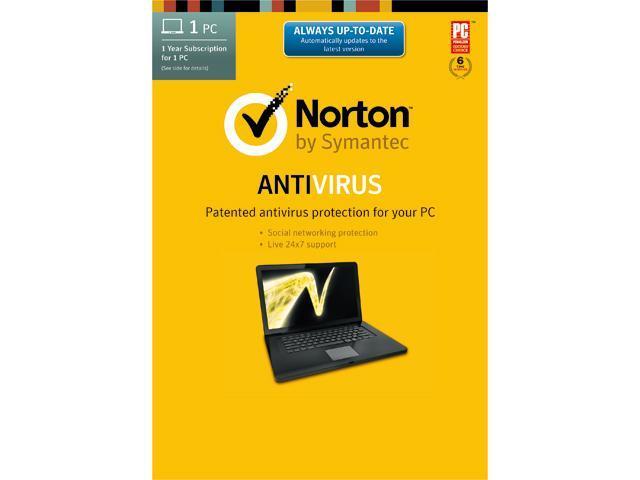 Symantec Norton Antivirus 2014 - 1 PC Download