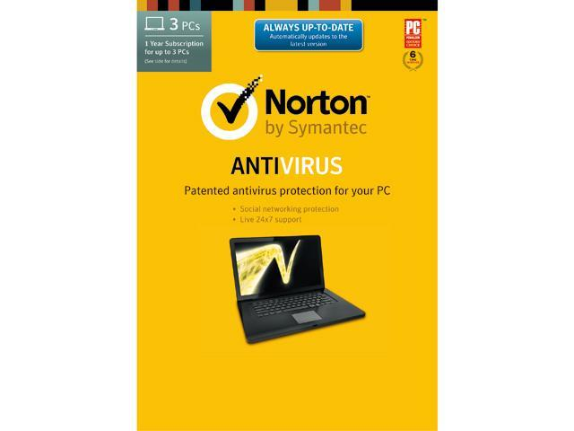 Symantec Norton Antivirus 2014 - 3 PCs